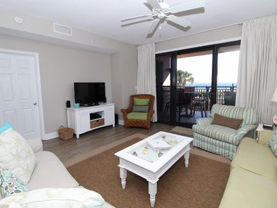 Photo for Seachase 105W- Beach Front Views from Walk-Out Terrace and Coastal Interior!