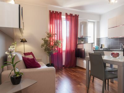 Photo for Stilish modern flat next to metro stop - 15 minutes from Duomo & Central Station