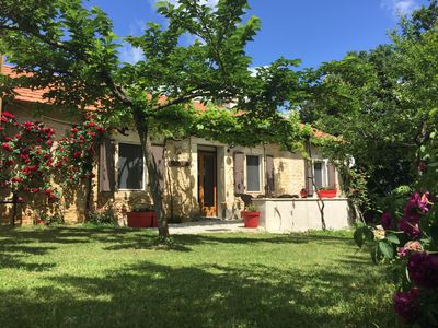 Photo for Cottage for 4 people on the heights of St Cirq Lapopie.
