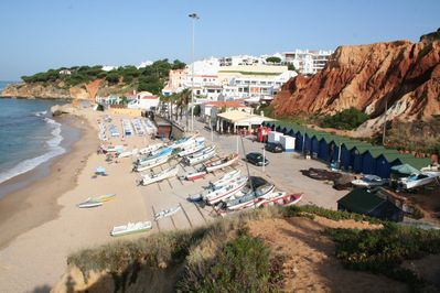 Olhos de Agua Beach with the charming fishing boats