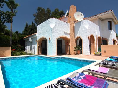 Photo for Detached villa with private optional heated pool, sea views, sauna, free Interne