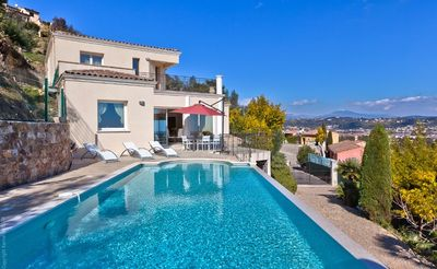 Photo for Contemporary villa with private pool near Cannes