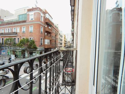 Photo for Bright room for rent in 2-bed apartment in Tetuán, Madrid with Balcony  GAR1EXIZQ