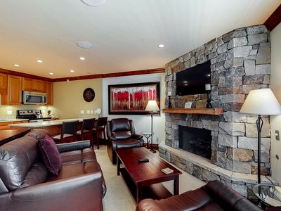Photo for Mountain view condo w/ ski-in/ski-out access – on-site pool and hot tub