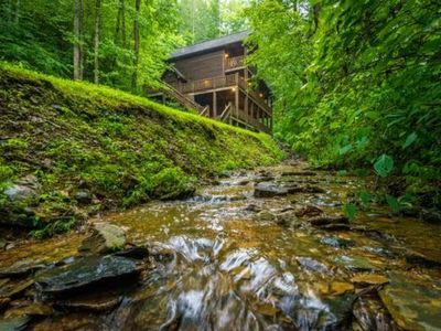 """Photo for """"Private Creek Cabin"""" Great Location - Easy Access"""