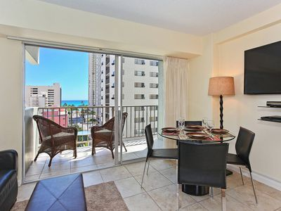 Photo for 1 bedroom, central AC, pool; 5-10 min. walk to beach.  Sleeps 4.