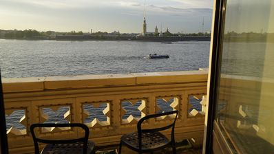Photo for Live by Hermitage with breathtaking view on Neva river, balcony, sauna and pool