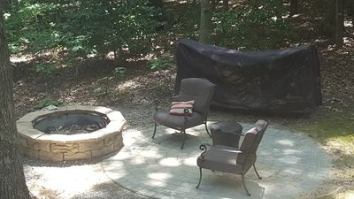 Fire Pit for smores. Lots of firewood
