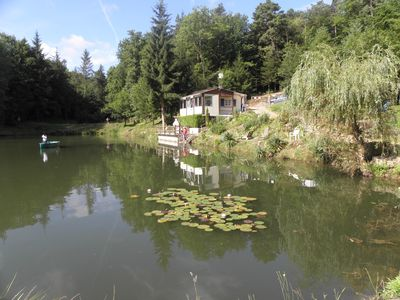 Photo for Cottage overlooking a pond in a verdant setting.