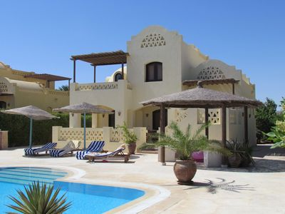 Photo for El Gouna holiday villa with heated pool, between 2 lagoons