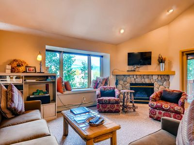 Photo for Ski-in/ski-out condo w/ ski views, shared hot tub, and gas fireplace!