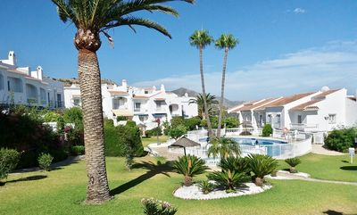 Photo for Charming 2 bed villa , with aircon and pool, in one of Nerja's most select area