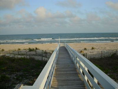 Boardwalk to beach from main living area