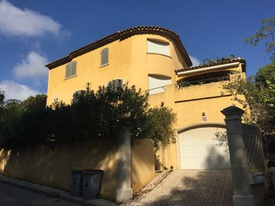 Photo for Superb charming villa, sea view, private jacuzzi pool