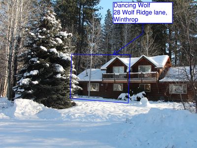 Photo for Family Friendly Log House with hot tub, right on the Methow Valley Ski Trail