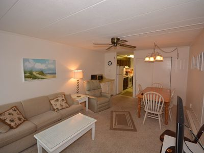 Photo for Cozy, Intimate 1 Bedroom Condo with free WiFi and an outdoor pool, located uptown near shops and a movie theater on the ocean block just a short walk to the beach!