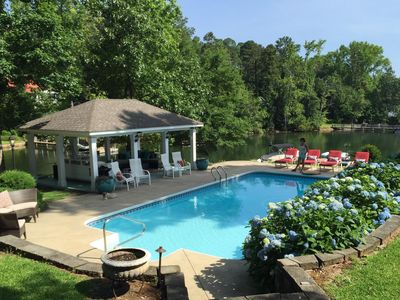 Photo for The Perfect Location! Clear water, pool, dock, cove & view of the dam! Lexington