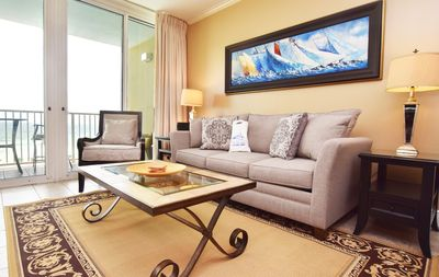 Photo for Fourth Floor Ocean View, Newly Renovated, Platinum Decor, Beach Service - we412