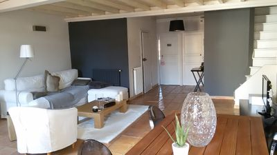 Photo for 2 room apartment + mezzanine 71 m², center, 100m from the beach, equipped with WIFI