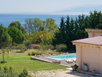Photo for Driftwood Villas is an eco villa with a private pool, 3min walk from the beach!