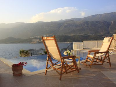 Photo for Sea Front Villa on Kas Peninsula Private  Pool with Private Swimming Platform