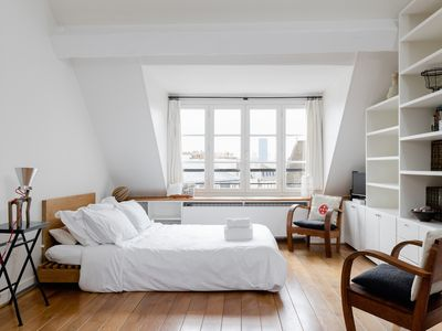 Photo for SPACIOUS STUDIO ON THE EDGE OF LE MARAIS - BY LA SEINE - HOTEL DE VILLE!