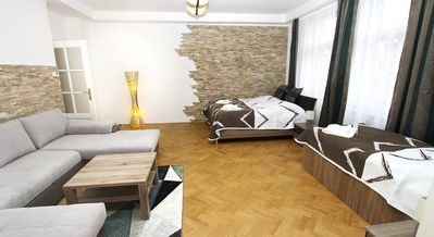 Luxury three-bedroom apartment for holiday or business trip.