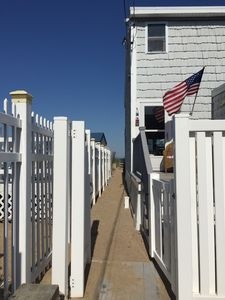 Photo for Beach cottage attached to multifamily home with direct private access to beach