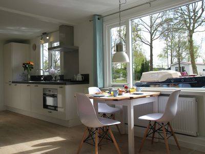 Photo for Beautiful new luxury house boat on the Loosdrecht Lakes