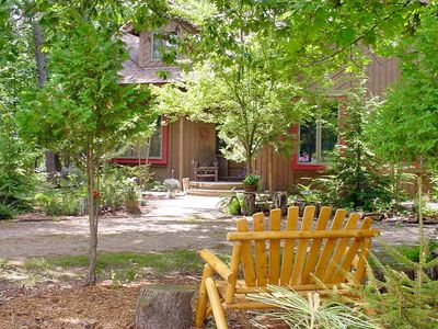 Photo for Charming, Pet Friendly Cottage  in the Woods. Walk to downtown Glen Arbor!