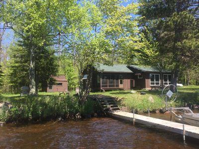 Photo for Northwoods Cabin On Teal Lake (Pontoon Boat Available)