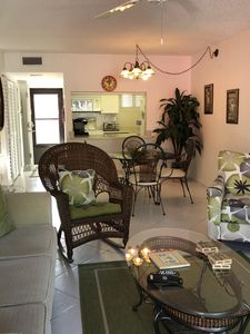 View of livingroom and diningroom from lanai