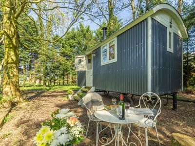 Photo for Small, but perfectly formed, Chez Marguerite is a charming, bespoke Shepherd's Hut