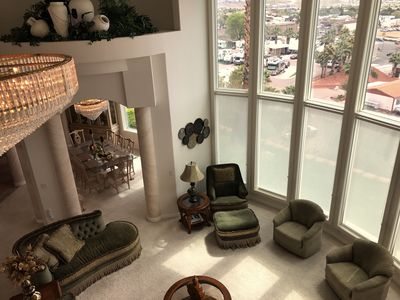 View From Loft to Living Room