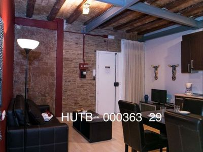 Photo for Gótic Modernista apartment in Barrio Gotico with WiFi & integrated air conditioning (hot / cold).