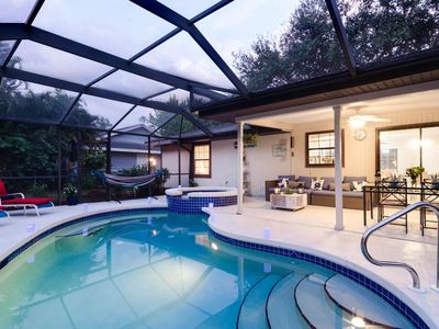 Photo for Cozy Pine Cottage - Private Pool, Spa home surrounded by lush gardens...steps to Old Bonita.