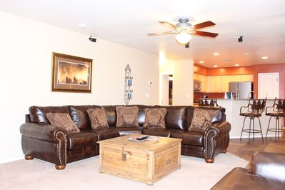 Spacious Family Room with plenty of seating