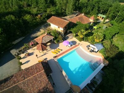 Marciac by drone from our villa