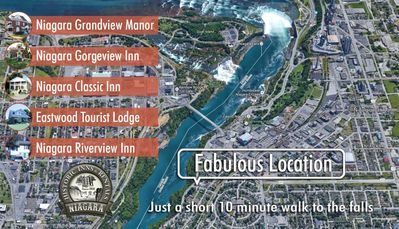 Niagara Historical Inns offers guests the best location of any rental.  Simply walk to the Falls and all major attractions. Incur no parking fees with a stay at our Inns.