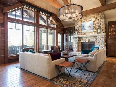 Photo for Luxurious ski-in ski-out home in Empire Pass with heated patio, hot tub, perfect for families