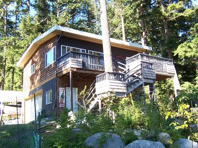 Photo for Private waterfront cottage on Malaspina Strait