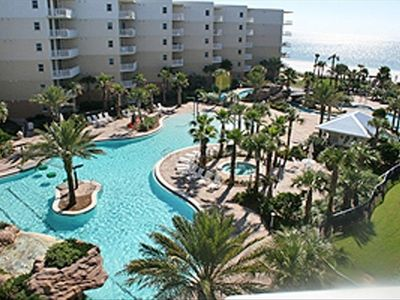 Photo for Stunning Views of Beach and Pools, 2 Bed/3 Bath/Bunkroom