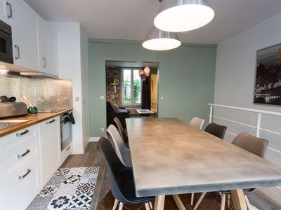 Photo for L'Epicerie chic: Cozy duplex 2 bedroom appartment - Eiffel tower