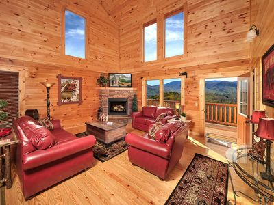 Photo for A KING'S PARADISE IN THE SMOKIES WITH INDOOR POOL,THEATER & SPECTACULAR VIEWS