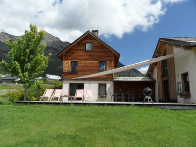 Photo for Cottage in the middle of meadows. Panoramic view of the Mercantour. Homologated ***