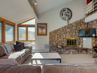 Photo for Ski-in/ski-out Copper Junction condo w/mountain views, steps away from lift!