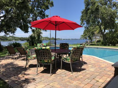 Photo for Waterfront paradise with dock, large home