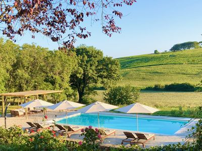 Photo for Villa La Mura | Luxury Pool Surrounded by Vineyards in Piemonte