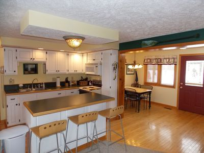 Kitchen and dining space - open floor plan into the main living room.