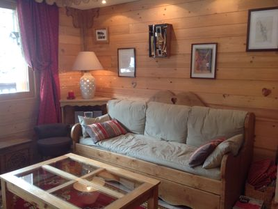 Photo for COURCHEVEL 1650 Belvedere 2 rooms 4 p on skis Garage household linen